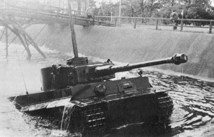 Плавающие модели немецких танков